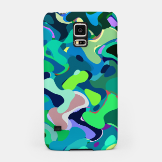 Miniaturka Deep underwater, abstract nautical print in blue shades Samsung Case, Live Heroes