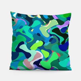 Miniaturka Deep underwater, abstract nautical print in blue shades Pillow, Live Heroes