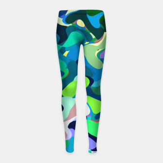 Miniaturka Deep underwater, abstract nautical print in blue shades Girl's leggings, Live Heroes
