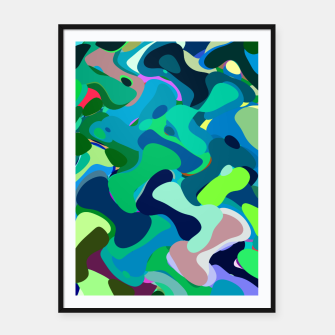 Miniaturka Deep underwater, abstract nautical print in blue shades Framed poster, Live Heroes