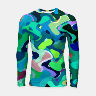 Miniaturka Deep underwater, abstract nautical print in blue shades Longsleeve rashguard , Live Heroes