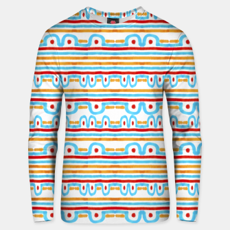 Miniaturka Folk Style Striped Pattern Design Unisex sweater, Live Heroes