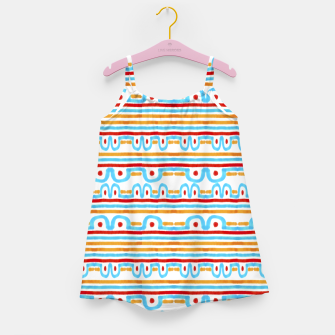 Miniaturka Folk Style Striped Pattern Design Girl's dress, Live Heroes