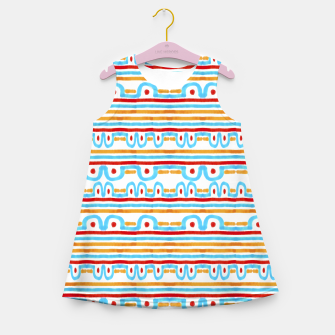 Miniaturka Folk Style Striped Pattern Design Girl's summer dress, Live Heroes