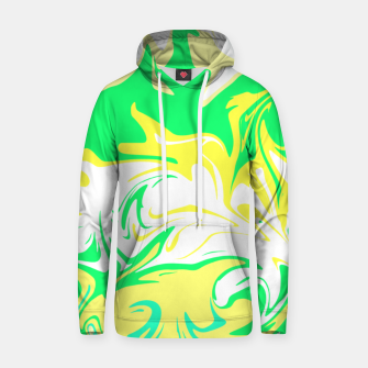 Thumbnail image of The hurricane, abstract color storm in green, white and yellow  Hoodie, Live Heroes
