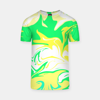 Thumbnail image of The hurricane, abstract color storm in green, white and yellow  T-shirt, Live Heroes