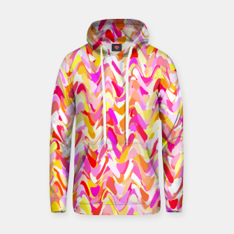 Thumbnail image of Waves in pink and orange shades, fresh summer color design Hoodie, Live Heroes