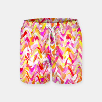 Miniaturka Waves in pink and orange shades, fresh summer color design Swim Shorts, Live Heroes