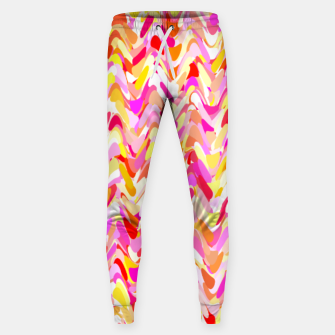 Miniaturka Waves in pink and orange shades, fresh summer color design Sweatpants, Live Heroes