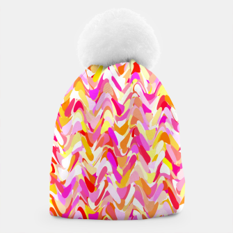 Miniaturka Waves in pink and orange shades, fresh summer color design Beanie, Live Heroes