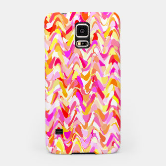 Miniaturka Waves in pink and orange shades, fresh summer color design Samsung Case, Live Heroes
