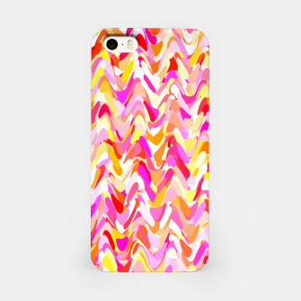 Miniaturka Waves in pink and orange shades, fresh summer color design iPhone Case, Live Heroes
