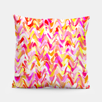 Miniaturka Waves in pink and orange shades, fresh summer color design Pillow, Live Heroes