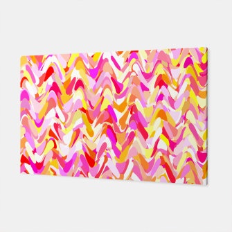 Miniaturka Waves in pink and orange shades, fresh summer color design Canvas, Live Heroes