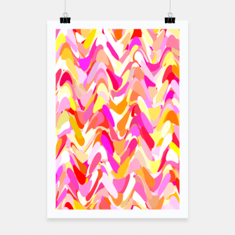 Miniaturka Waves in pink and orange shades, fresh summer color design Poster, Live Heroes