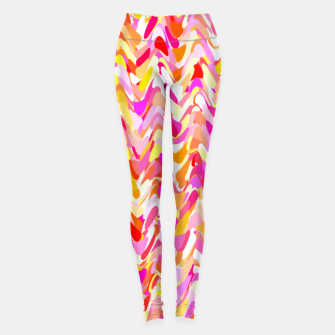 Miniaturka Waves in pink and orange shades, fresh summer color design Leggings, Live Heroes
