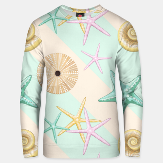 Seashells and starfish Beach Summer Pattern Unisex sweater thumbnail image