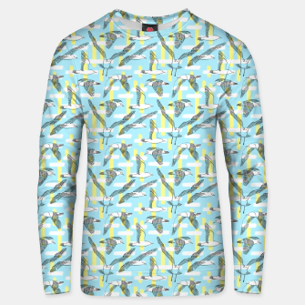 Thumbnail image of Seagulls (Light Blue Background) Unisex sweater, Live Heroes