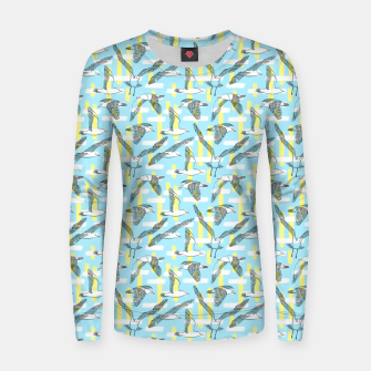 Thumbnail image of Seagulls (Light Blue Background) Women sweater, Live Heroes