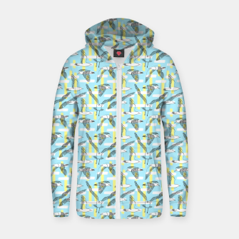 Thumbnail image of Seagulls (Light Blue Background) Zip up hoodie, Live Heroes