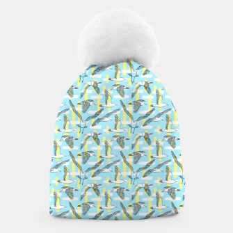 Thumbnail image of Seagulls (Light Blue Background) Beanie, Live Heroes