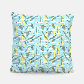 Thumbnail image of Seagulls (Light Blue Background) Pillow, Live Heroes