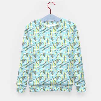 Thumbnail image of Seagulls (Light Blue Background) Kid's sweater, Live Heroes