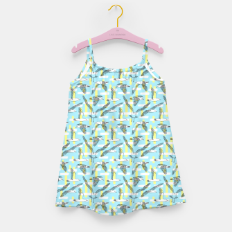Thumbnail image of Seagulls (Light Blue Background) Girl's dress, Live Heroes