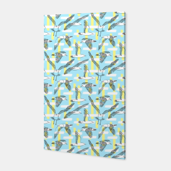Thumbnail image of Seagulls (Light Blue Background) Canvas, Live Heroes