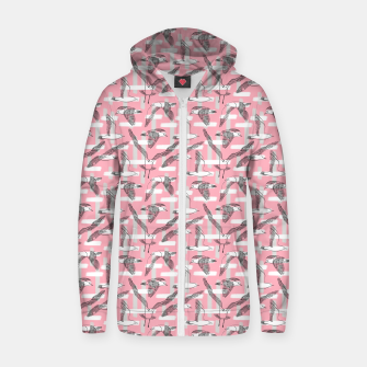 Thumbnail image of Seagulls (Pink Background) Zip up hoodie, Live Heroes