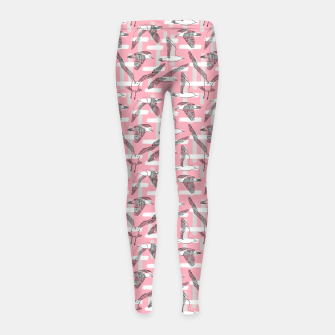 Thumbnail image of Seagulls (Pink Background) Girl's leggings, Live Heroes