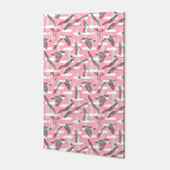 Thumbnail image of Seagulls (Pink Background) Canvas, Live Heroes