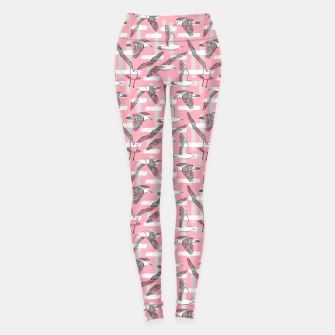 Thumbnail image of Seagulls (Pink Background) Leggings, Live Heroes
