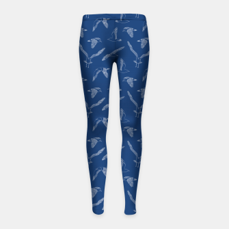 Miniature de image de Seagulls (Navy and White) Girl's leggings, Live Heroes