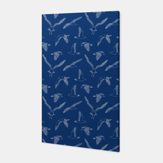 Miniature de image de Seagulls (Navy and White) Canvas, Live Heroes