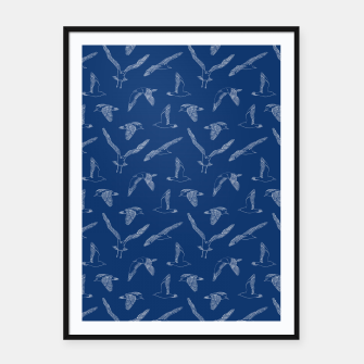 Miniature de image de Seagulls (Navy and White) Framed poster, Live Heroes
