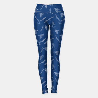 Miniature de image de Seagulls (Navy and White) Leggings, Live Heroes