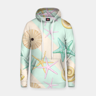 Seashells and starfish Beach Summer Pattern Hoodie thumbnail image