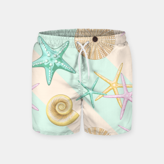 Thumbnail image of Seashells and starfish Beach Summer Pattern Swim Shorts, Live Heroes