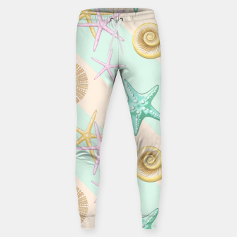 Thumbnail image of Seashells and starfish Beach Summer Pattern Sweatpants, Live Heroes