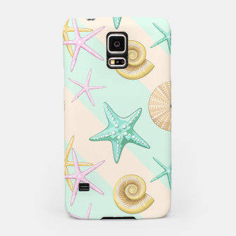 Thumbnail image of Seashells and starfish Beach Summer Pattern Samsung Case, Live Heroes