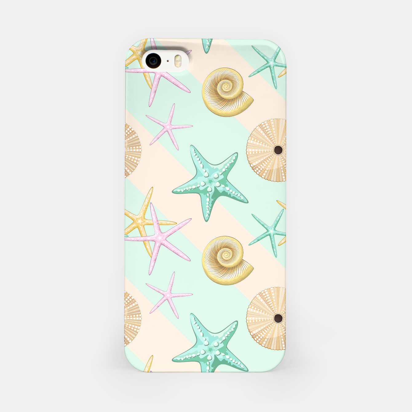 Image of Seashells and starfish Beach Summer Pattern iPhone Case - Live Heroes