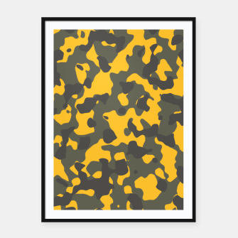 Thumbnail image of Camouflage Jaune/Kaki Affiche et cadre, Live Heroes