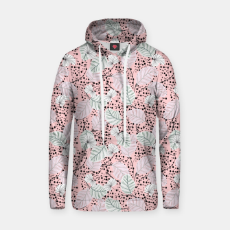 Miniatur Leaves in pink nature Sudadera con capucha, Live Heroes