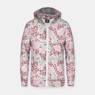 Miniatur Leaves in pink nature Sudadera con capucha y cremallera , Live Heroes
