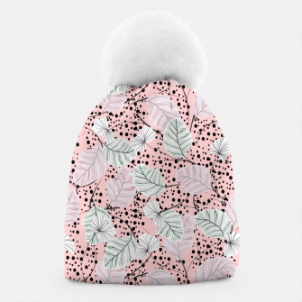 Miniatur Leaves in pink nature Gorro, Live Heroes