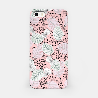 Miniatur Leaves in pink nature Carcasa por Iphone, Live Heroes