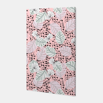 Miniatur Leaves in pink nature Canvas, Live Heroes