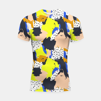 Thumbnail image of Abstract modern strokes 001 Shortsleeve rashguard, Live Heroes