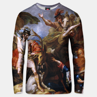 Miniatur The Death of the Stag by Benjamin West Unisex sweater, Live Heroes